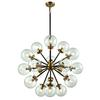 Boudreaux 18 Light Chandelier In Matte Black And Antique Gold
