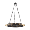 ELK lighting Venue 24 Light Chandelier In Speckled Iron