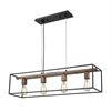 Rigby 4 Light Chandelier In Oil Rubbed Bronze And Tarnished Brass