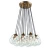 Boudreaux 17 Light Chandelier In Satin Brass With Clear Glass