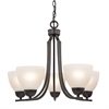 Kingston 5 Light Chandelier In Oil Rubbed Bronze