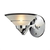 Refraction 1 Light Wall Sconce In Polished Chrome
