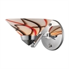 Refraction 1 Light Wall Sconce In Polished Chrome And Creme White Glass