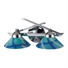 Refraction 2 Light Vanity In Polished Chrome And Carribean Glass
