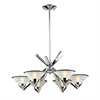 Refraction 6 Light Chandelier In Polished Chrome