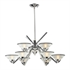 ELK lighting Refraction 9 Light Chandelier In Polished Chrome