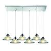 ELK lighting Refraction 6 Light Pendant In Polished Chrome