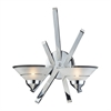 Refraction 2 Light Wall Sconce In Polished Chrome