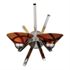 ELK lighting Refraction 2 Light Wall Sconce In Polished Chrome And Jasper Glass