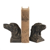 Sterling Hunting Dog Bookends