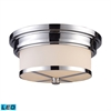 ELK lighting Flushmounts 2 Light LED Flushmount In Polished Chrome