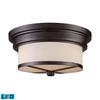 ELK lighting Flushmounts 2 Light LED Flushmount In Oiled Bronze