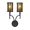 Barringer 2 Light Wall Sconce In Aged Bronze And Tan Mica