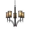 Barringer 5 Light Chandelier In Aged Bronze And Tan Mica