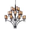Barringer 8+8+4 Light Chandelier In Aged Bronze And Tan Mica