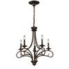 ELK lighting Gloucester 5 Light Chandelier In Weathered Bronze