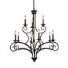 ELK lighting Gloucester 9 Light Chandelier In Weathered Bronze