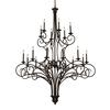 ELK lighting Gloucester 18 Light Chandelier In Weathered Bronze