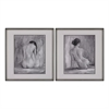 Sterling Figure In Black And White I And Ii - Fine Art Print Under Glass