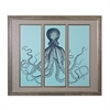 Sterling Octopus Triptych  - Fine Art Giclee Under Glass