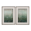 Sterling Emerald Sky I, II - Limited Edition Print On Fine Art Paper Under Glass