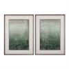 Emerald Sky I, II - Limited Edition Print On Fine Art Paper Under Glass