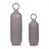 Set Of 2 Lidded Ceramic Jars In Lilac Luster