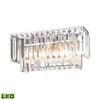 ELK lighting Palacial 2 Light LED Vanity In Polished Chrome