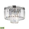 ELK lighting Palacial 1 Light LED Pendant In Polished Chrome