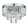 ELK lighting Palacial 3 Light Semi Flush In Polished Chrome