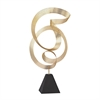 Lazy Susan Golden Ribbon Metal Sculpture