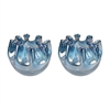 Splash Glass Vases In Navy Blue - Set of 2