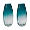 Aqua Ombre Vases - Set of 2