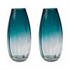 Lazy Susan Aqua Ombre Vase