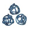 Navy Blue Glass Knots - Set of 3