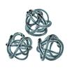 Grey Glass Knots - Set of 3