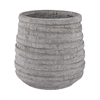 Lazy Susan Barn Gray Corrugated Pot