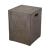 Lazy Susan Square Handled Concrete Stool