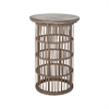 Dimond Home Refuge Side Table Dark Grey Wax,Woodtone