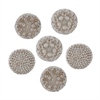 Lazy Susan Set of 6 Shell Coasters