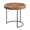 Suar Wood Slab Accent Table