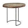 Lazy Susan Short Stone Slab & Wire Frame Table