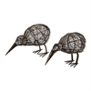Decorative Kiwi - Set of 2 Bronze