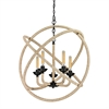 ELK lighting Pearce 5 Light Chandelier In Matte Black