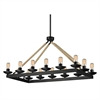 ELK lighting Pearce 14 Light Chandelier In Matte Black