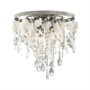Alexandra 3 Light LED Semi Flush In Weathered Zinc
