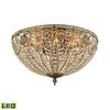 ELK lighting Elizabethan 8 Light LED Flush In Dark Bronze