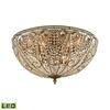 Elizabethan 10 Light LED Flush In Dark Bronze