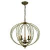ELK lighting Elizabethan 5 Light Chandelier In Dark Bronze