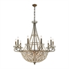 ELK lighting Elizabethan 18 Light Chandelier In Dark Bronze